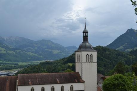 Church in the Switzerland mountains.