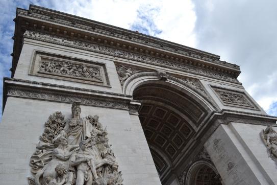 Passing through the Arc de Triomphe